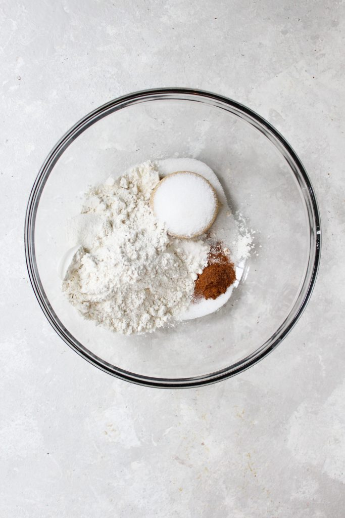 unmixed crumb topping ingredients